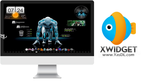 دانلود XWidget Free 1.9.7.808 + Portable - نرم افزار زیباسازی دسکتاپ ویندوز