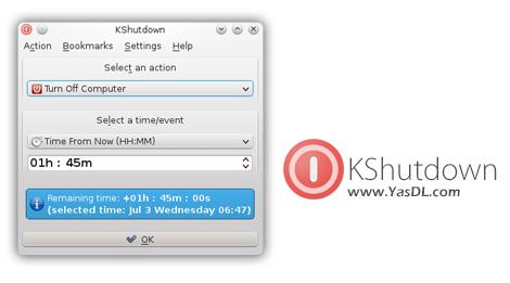 دانلود KShutdown 4.2 - نرم افزار خاموش کردن خودکار کامپیوتر