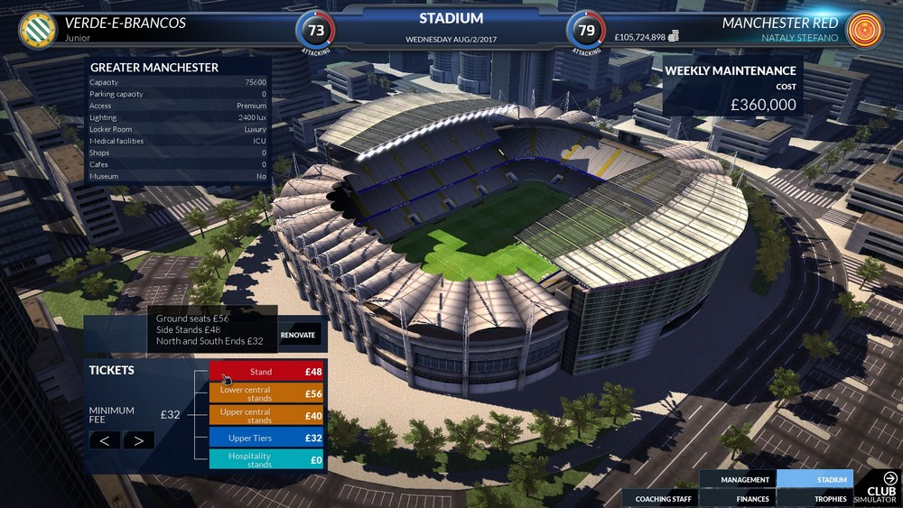Game Football Club Simulator 18 Final Race For PC