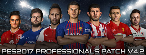 PES Professionals Patch 2017 4.2 - Professional Patch For PES 2017