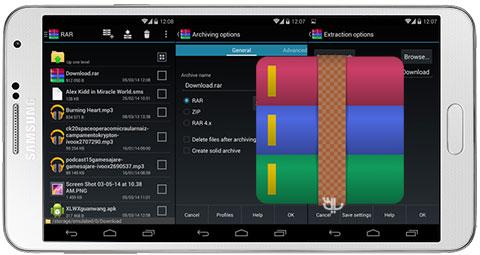 دانلود RAR for Android Premium برنامه Winrar برای اندروید