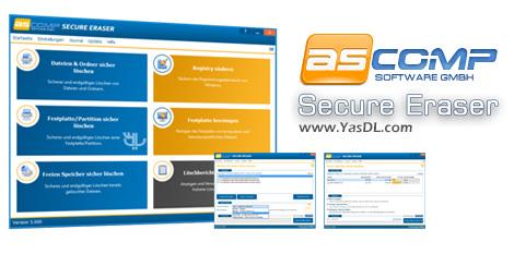 دانلود ASCOMP Secure Eraser 5.001 Pro Edition - پاک سازی اطلاعات بدون امکان بازگشت