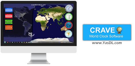 دانلود Crave World Clock Pro 1.6.4.4 - نمایش ساعت جهانی و زمان کشورها در دسکتاپ