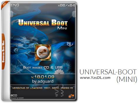 دانلود Universal-Boot Mini 18.01.09 by Adguard Eng - دیسک بوت حرفه ای