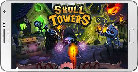 دانلود بازی Skull Towers Castle Defense 1.0.3 - دفاع از قلعه برای اندروید + نسخه بی نهایت