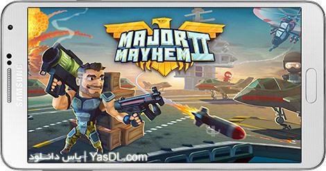 دانلود بازی Major Mayhem 2 - Action Arcade Shooter 1.03.2018042016 - ضرب و شتم بزرگ 2 برای اندروید + نسخه بی نهایت