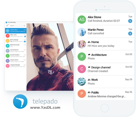 Messenger تلپادو Telepado 1.0.26.10 For Android + Windows, And The Computer Telepado Desktop 1.7.6.1847