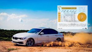 Car Azar 98 300x169 - دانلود تقویم 98 - تقویم سال ۹۸ شمسی با پس زمینه طبیعت + ماشین + مذهبی + مناسبتها PDF