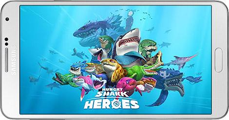 دانلود بازی Hungry Shark Heroes 1.4 - کوسههای گرسنه برای اندروید + دیتا