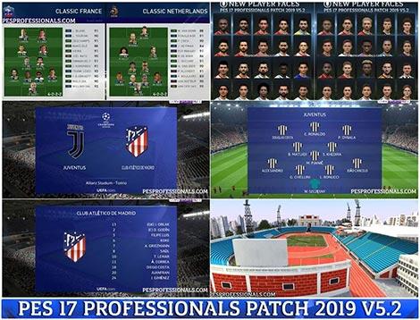 دانلود PES 2017 Professionals Patch 5.2 - پچ پروفشنال برای بازی PES 2017
