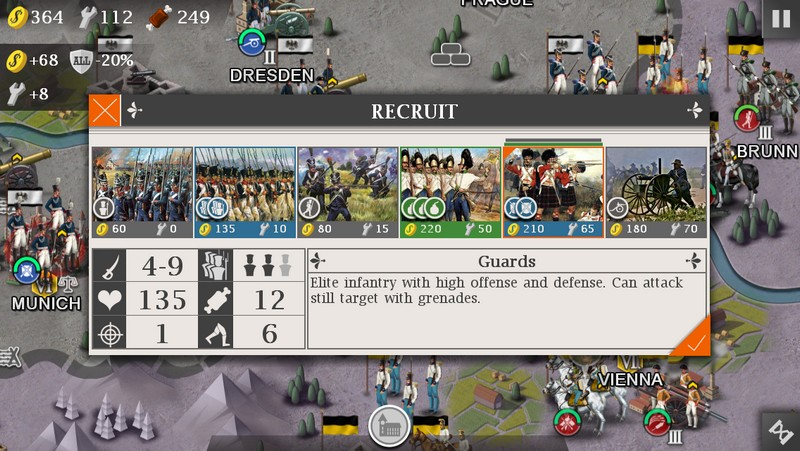 European War 4: Napoleon 1.4.16 For Android + Infinity Edition