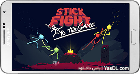 دانلود بازی Stick Fight: The Game 1.0.9.4191 - جنگ آدمکها برای اندروید + دیتا