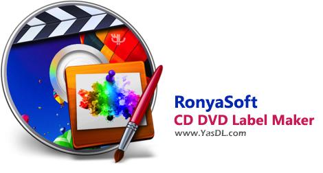 دانلود RonyaSoft CD DVD Label Maker 3.2.18 - طراحی لیبل دیسکهای CD/DVD