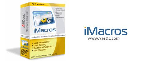 دانلود iMacros Enterprise Edition 12.5.2018.1105 x86/x64 - ماکروی خودکارسازی اقدامات در مرورگر وب