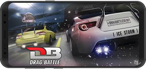 دانلود بازی Drag Battle Racing 3.15.48 - اتومبیل رانی درگ برای اندروید + نسخه بی نهایت + دیتا
