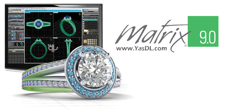 دانلود Gemvision Matrix 9.0 Build 7349 - نرم افزار تخصصی طراحی جواهر