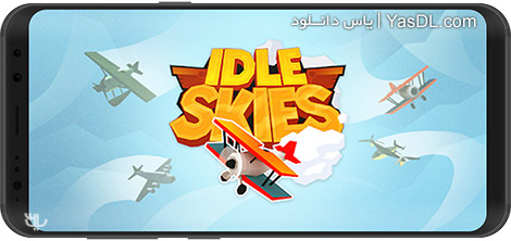 دانلود بازی Idle Skies 1.0.6 - شبیهسازی پرواز برای اندروید + نسخه بی نهایت