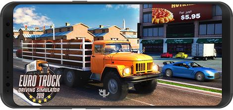 دانلود بازی Euro Truck Driving Simulator Truck Transport Games 1.5 - شبیهساز رانندگی کامیون 2019 برای اندروید + نسخه بی نهایت