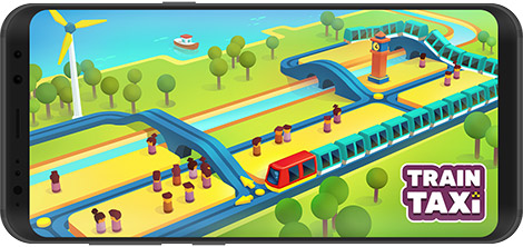 دانلود بازی Train Taxi 1.2.4 - حمل و نقل مسافر با قطار برای اندروید + نسخه بی نهایت