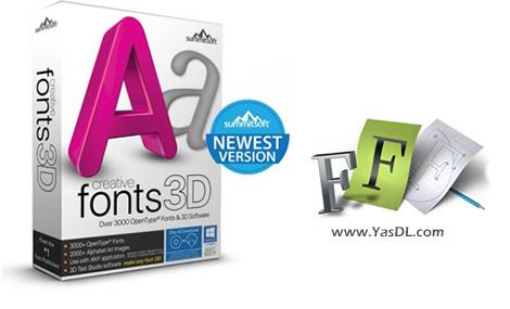 دانلود Summitsoft Creative Fonts 3D 10.5 - مجموعه فونت فوقالعاده انگلیسی جهت طراحی لوگو، آرم و ...