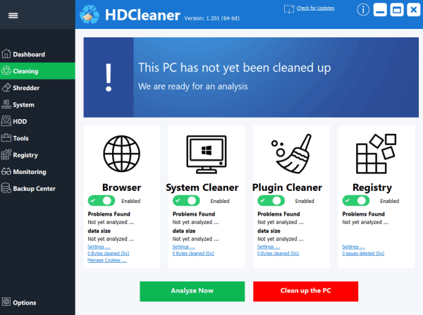 HDCleaner 1.288 + Portable - System Cleaning Software