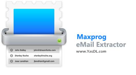دانلود Maxprog eMail Extractor 3.7.9 - نرم افزار استخراج آدرسهای ایمیل