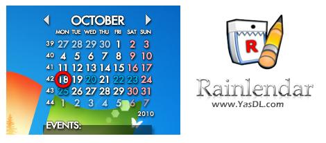 دانلود Rainlendar Lite 2.14.2 Build 157 x86/x64 - تقویم و لیست اقدامات در دسکتاپ
