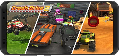 دانلود بازی Crash Drive 2: 3D racing cars 3.55 - اتومبیل رانی خشن برای اندروید + نسخه بی نهایت