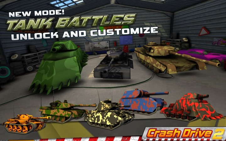 Crash Drive 2: 3D Racing Cars 3.55 For Android + Infinity