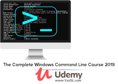دانلود دوره آشنایی با خط فرمان در ویندوز - The Complete Windows Command Line Course 2019 (CMD, Batch) - Udemy