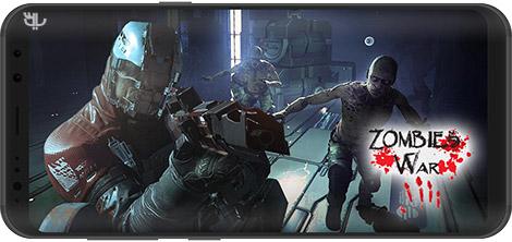 دانلود بازی Zombies War - Doomsday Survival Simulator Games 1.0.2 - جنگ زامبیها برای اندروید + نسخه بی نهایت