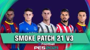 PES 2021 SmokePatch21.cover1  300x169 - دانلود پچ PES 2021 SmokePatch21 v3 21.2.3 - آپدیت بازیکنان و نقل و انتقالات تیمها در PES 2021