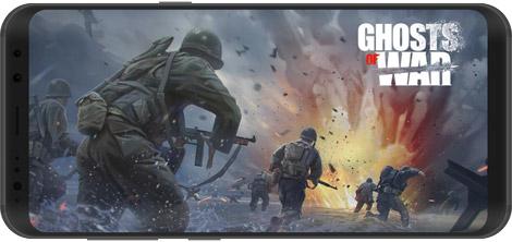 دانلود بازی Ghosts of War: WW2 Shooting games 0.2.5 - شبیهساز نبرد: جنگ جهانی دوم برای اندروید + دیتا