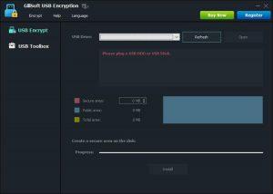 GiliSoft USB Encryption - نرم افزار رمزگذاری فلش مموری