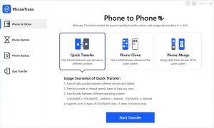 PhoneTrans 5.1.0.20210121 - نرم افزار انتقال سریع اطلاعات بین دو موبایل