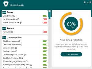 Abelssoft Win10PrivacyFix - نرم افزار تنظیم گزینه های امنیتی ویندوز