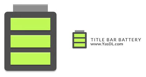 دانلود Title Bar Battery 1.0.0 Build 1 - نمایش میزان باقی مانده از باتری لپ تاپ در پنجرههای ویندوز