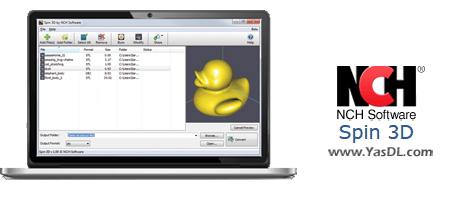 دانلود NCH Spin 3D 4.10 - مشاهده و تبدیل کردن فرمت مدلهای 3 بعدی