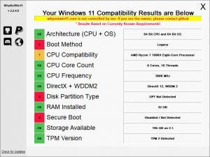 WhyNotWin11.cover1  300x225 - دانلود WhyNotWin11 2.2.4 x86/x64 - نرم افزار چک کردن سیستم برای سازگاری با نصب ویندوز 11